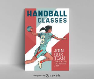 Handball classes poster design
