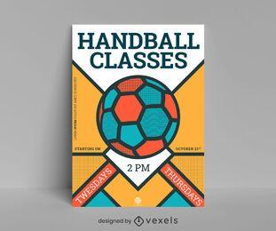 Classes handball poster design