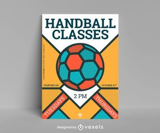 Design de cartaz de handebol de classes