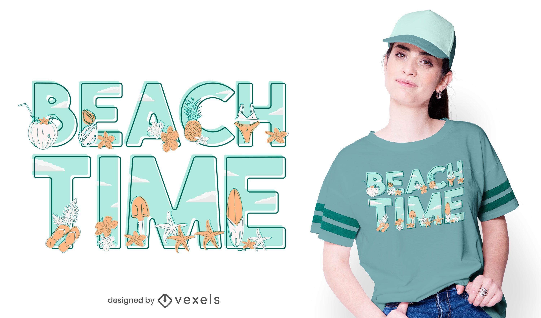 Beach time t-shirt design