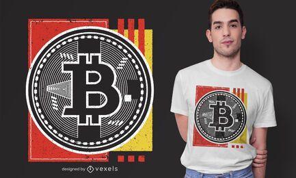 Diseño de camiseta abstracta de Bitcoin