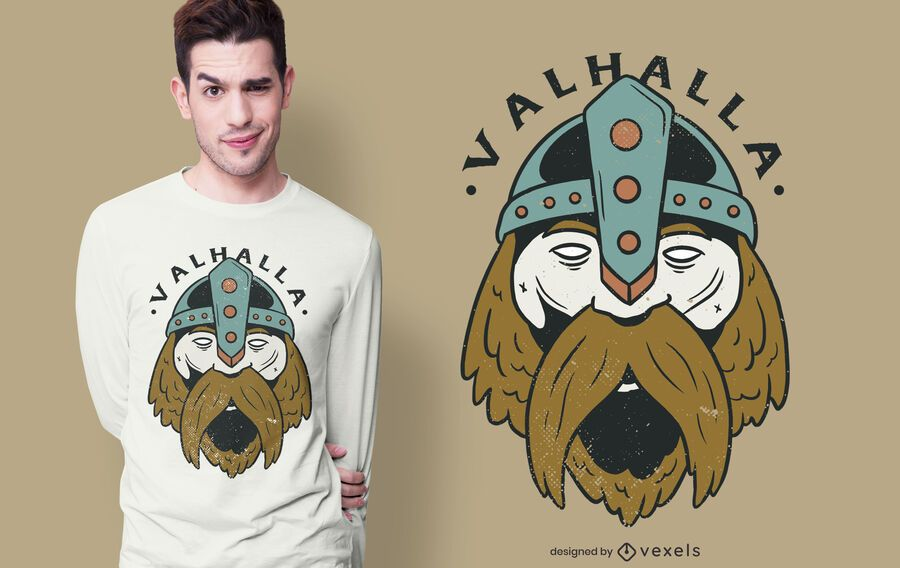 Valhalla Viking T-shirt Design