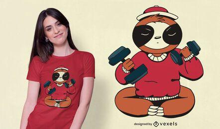 Diseño de camiseta de ejercicio perezoso.