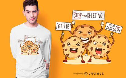 Diseño de camiseta de protesta de cookies
