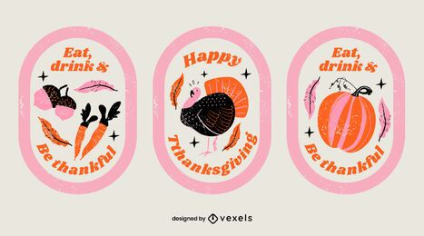 Thanksgiving badge set