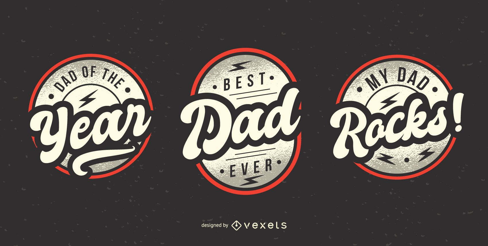 Father's day badge pack