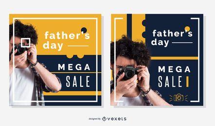 Paquete de pancartas cuadradas del día del padre