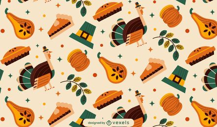 Thanksgiving elements pattern design