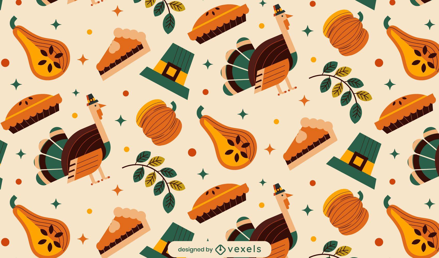 Thanksgiving elements pattern design