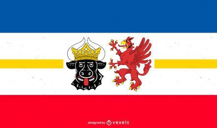 Projeto da bandeira do estado de Mecklemburgo-Pomerânia Ocidental