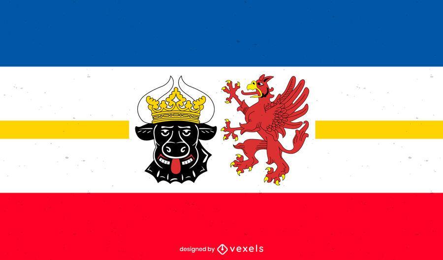 Diseño de la bandera del estado de Mecklenburg-Vorpommern