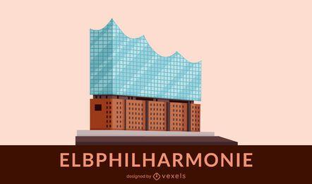 Projeto de edifício plano Elbphilharmonie