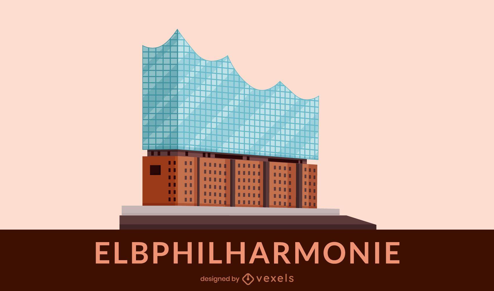 Diseño de edificio plano Elbphilharmonie