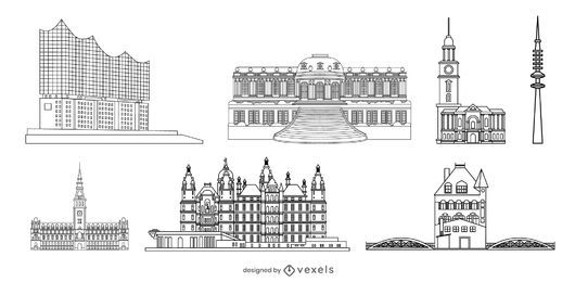 German Landmark Stroke Design Pack