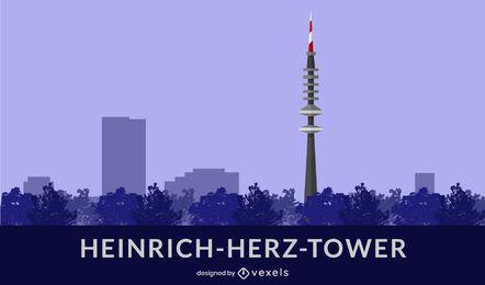 Design plano da torre Heinrich-Herz