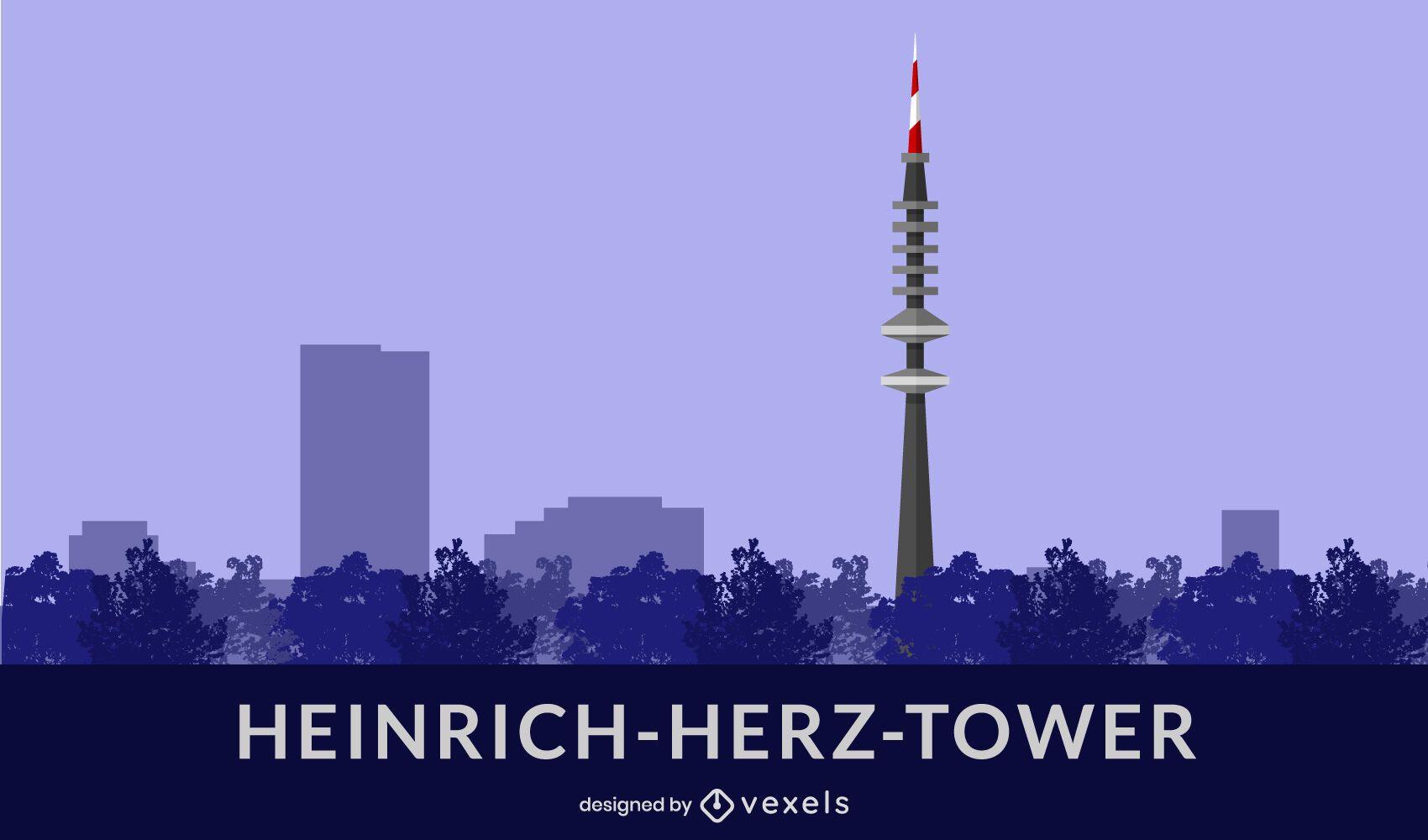 Diseño plano de la torre Heinrich-Herz