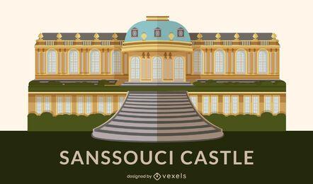 Hito del diseño plano del palacio de Sanssouci