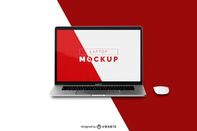 Laptop mouse mockup design
