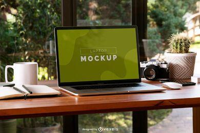 Schreibtisch Laptop Modell Zusammensetzung