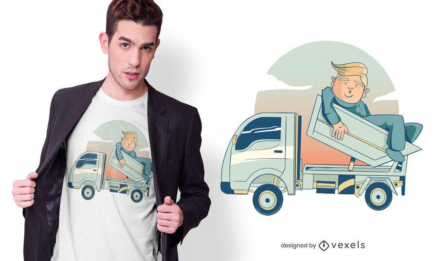Design de t-shirt de caminhão Trump