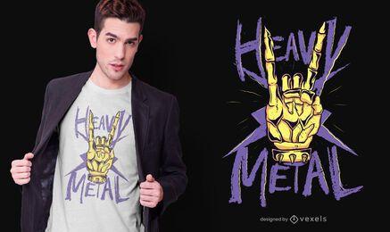 Design de camiseta de metal pesado