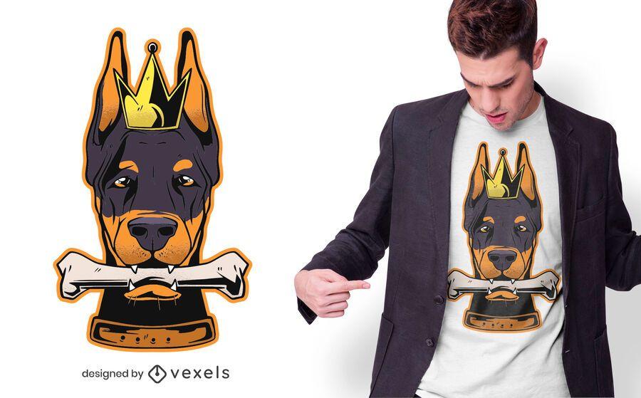 Dobermann king t-shirt design