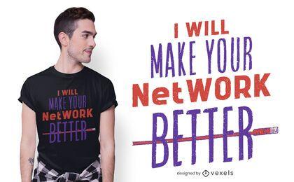 Red mejor diseño de camiseta