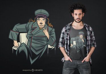 Design de t-shirt de ditador de mulher