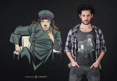 Diseño de camiseta de mujer dictador