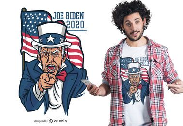 Joe bidee 2020 design de t-shirt