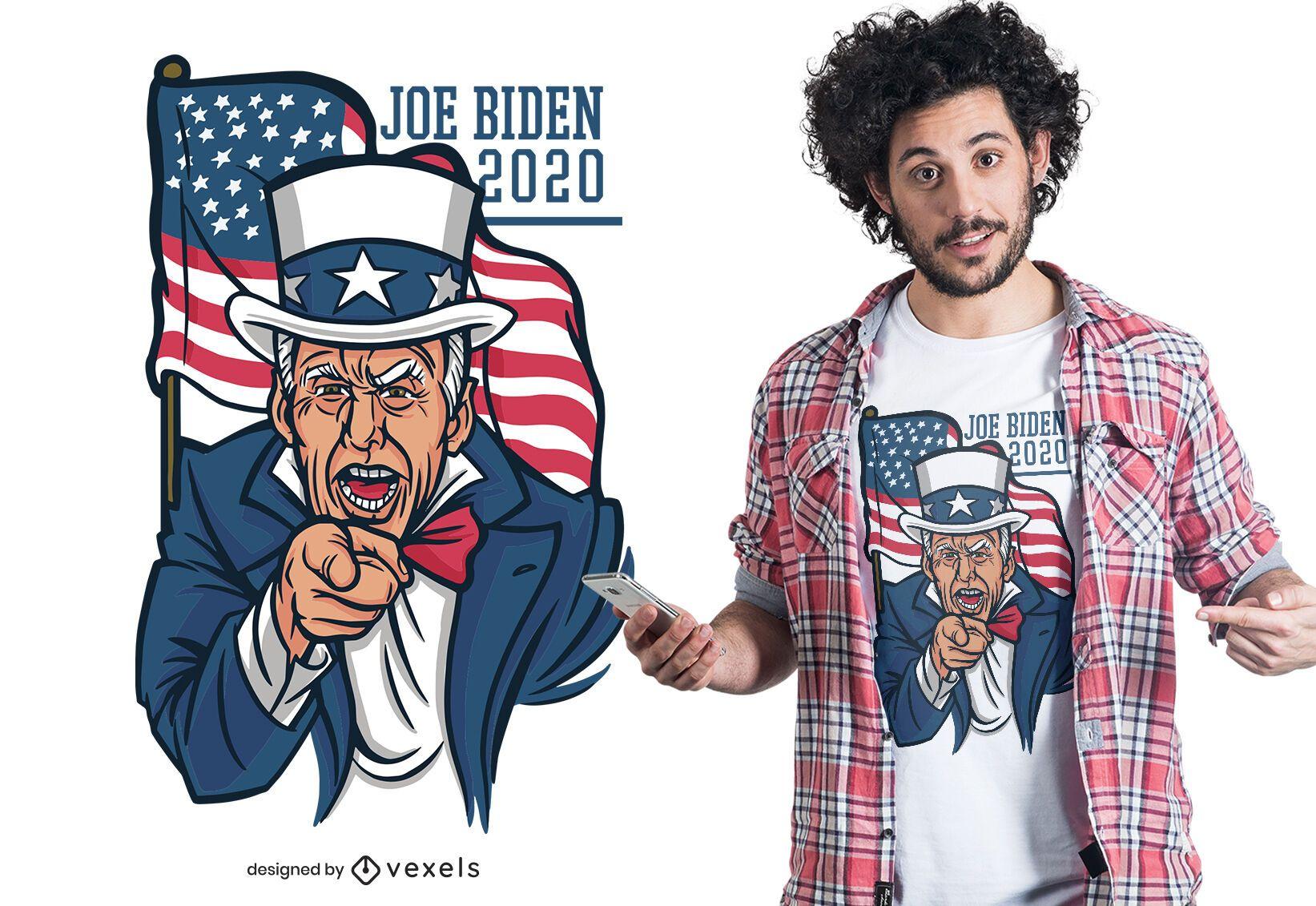 Diseño de camiseta joe biden 2020
