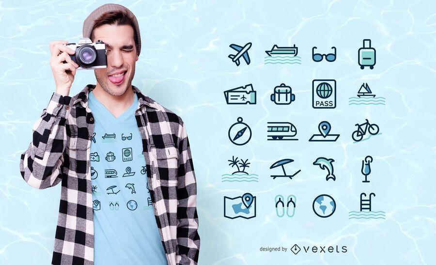 Reiseikonen-T-Shirt Design