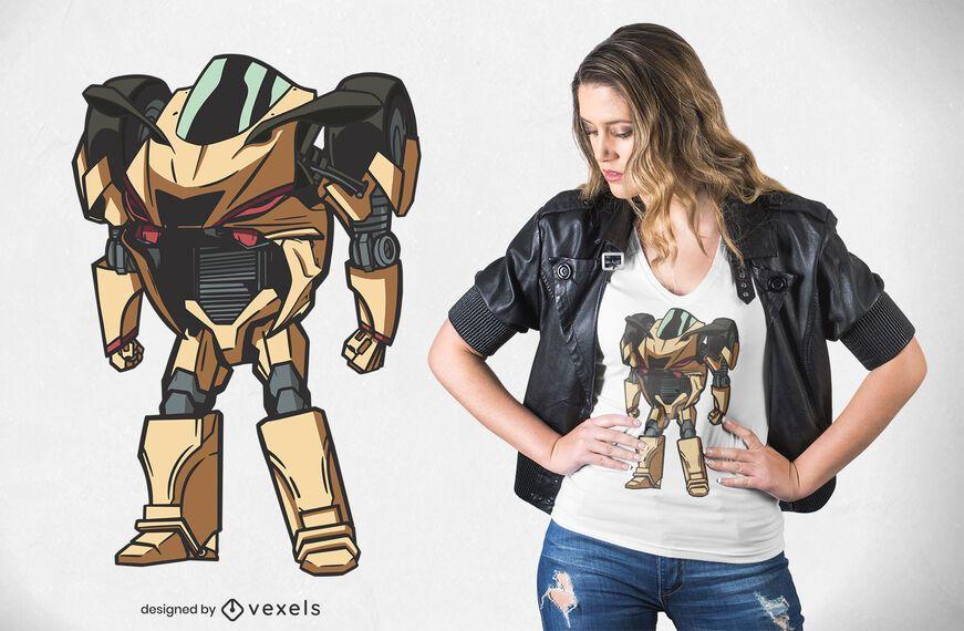 Diseño de camiseta Supersport Robot