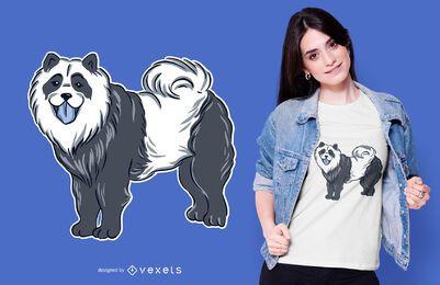 Design de t-shirt de chow chow panda