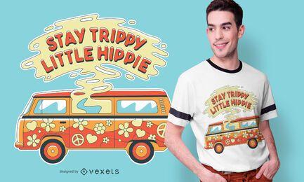 Diseño de camiseta de trippy van