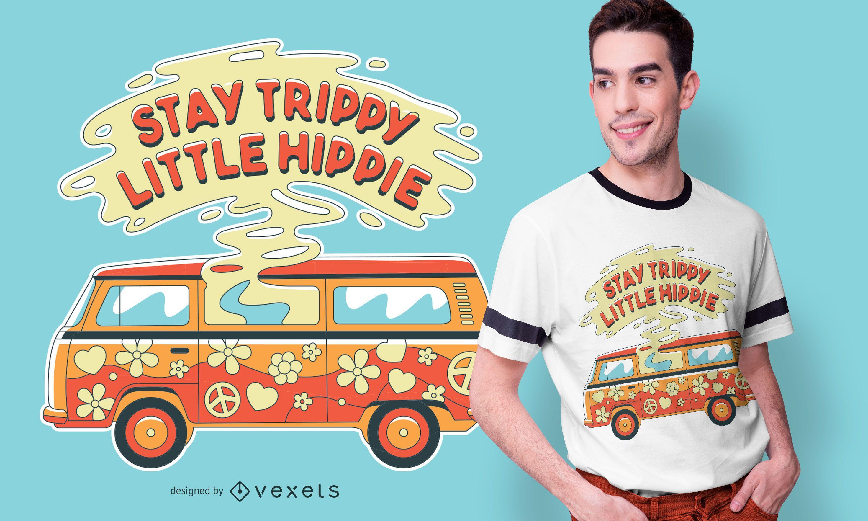 Design de camiseta de van trippy