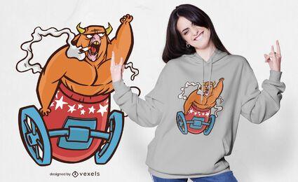 Diseño de camiseta bull cannon