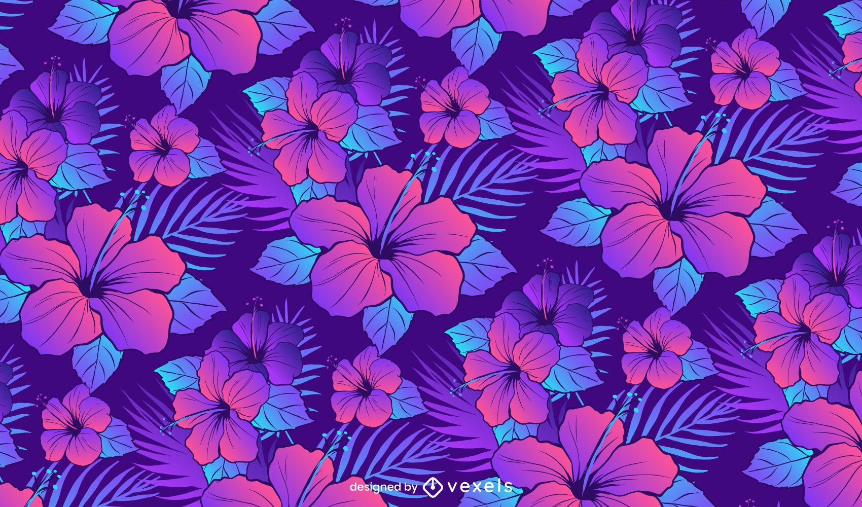 Hibiscus flower pattern design