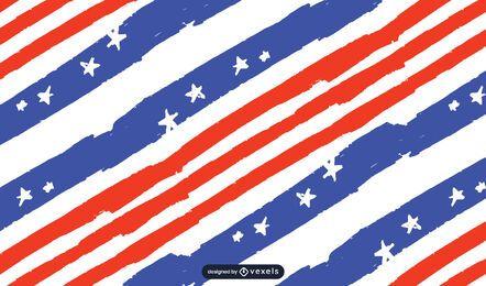 Diseño de patrón de bandera de Estados Unidos