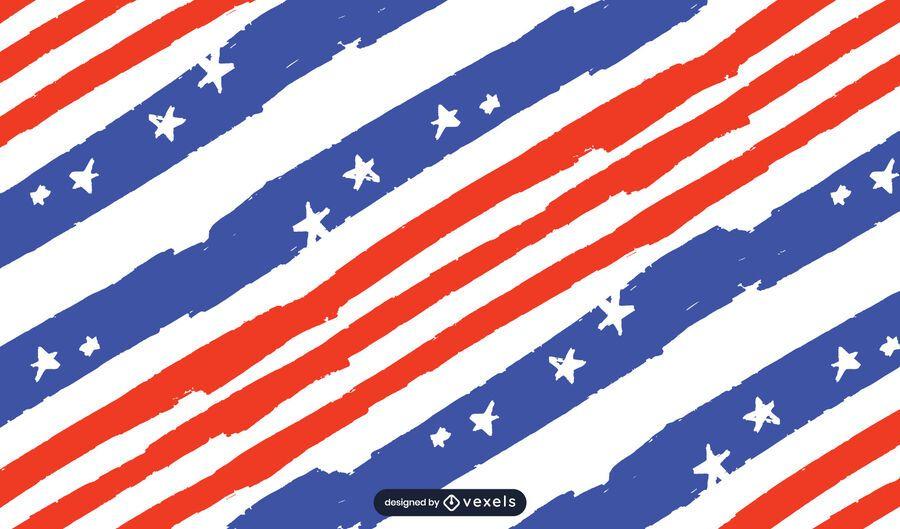 Design de padrão de bandeira dos EUA