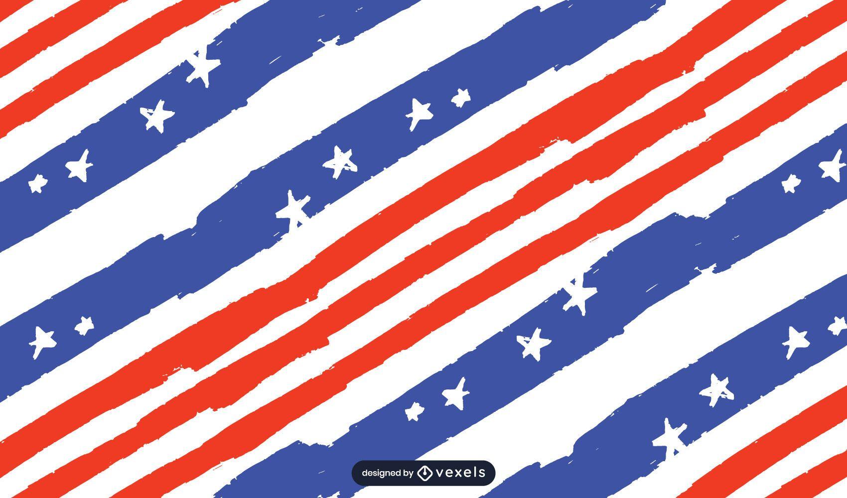 Usa Flaggenmusterentwurf