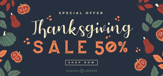 Thanksgiving Sale Slider Banner