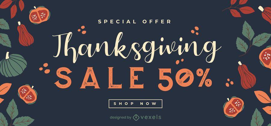 Thanksgiving Sale Slider Banner