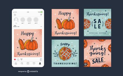 Thanksgiving Social Square Banner Pack