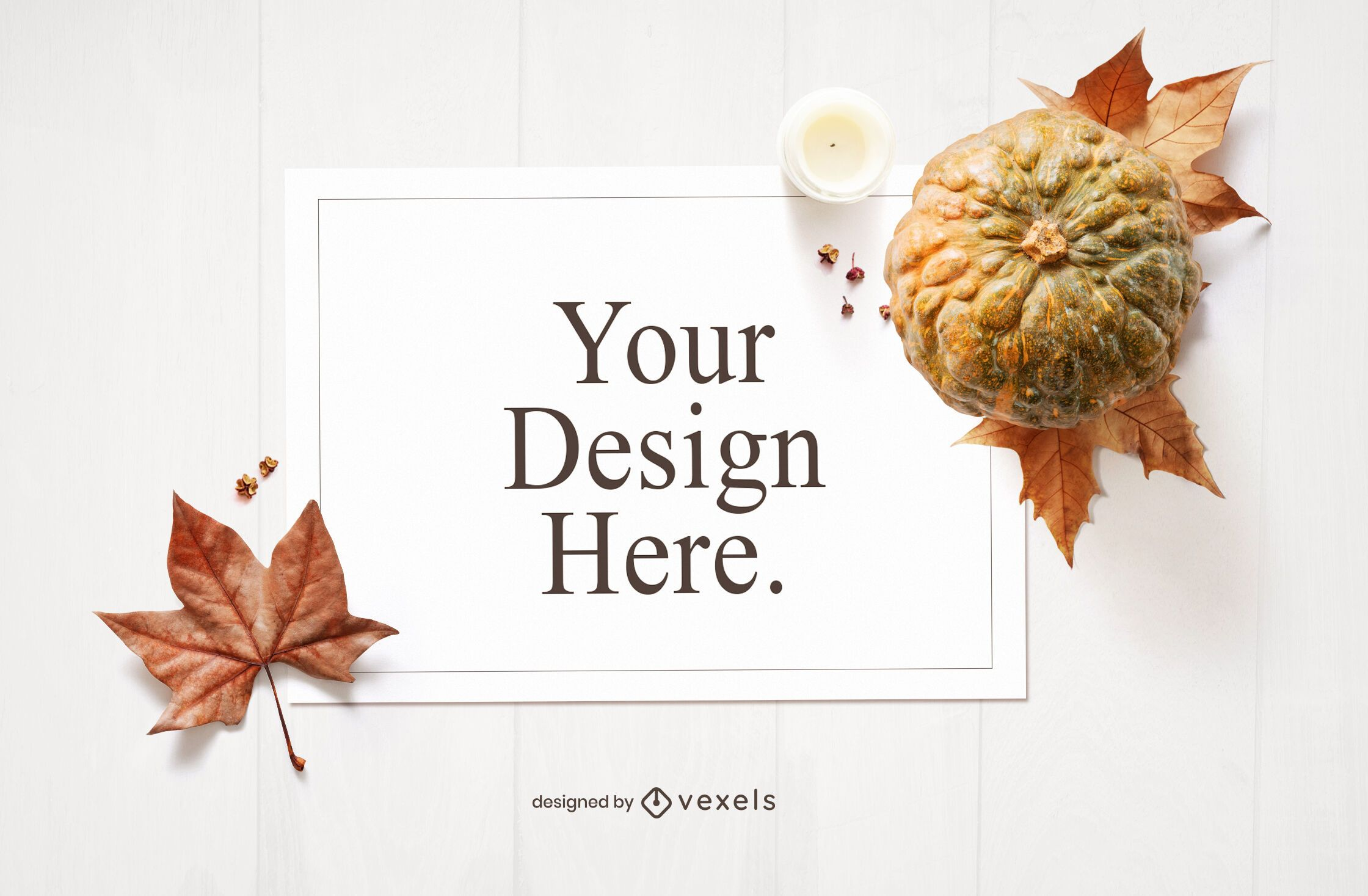 Thanksgiving card mockup composition