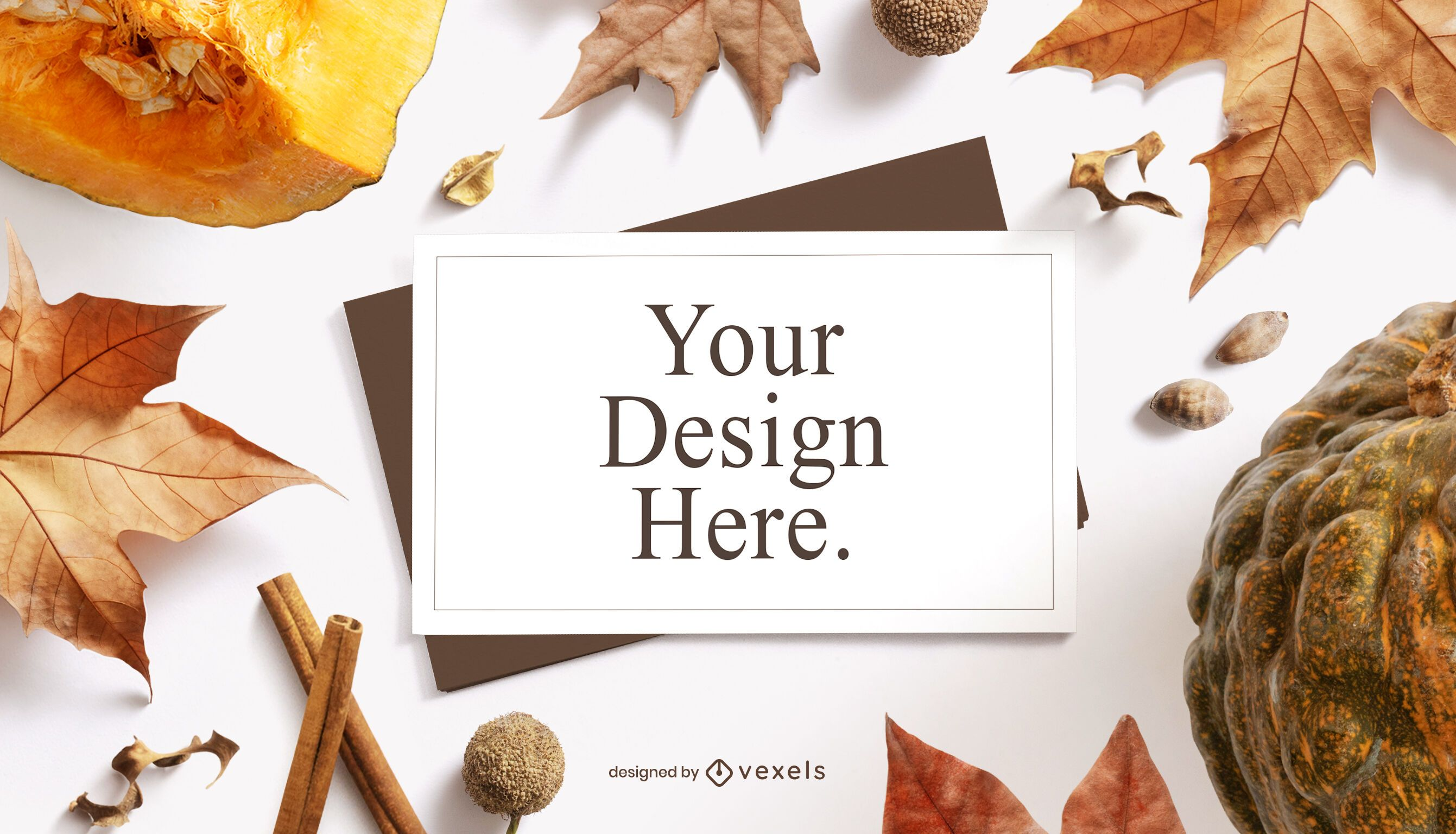 Thanksgiving paper mockup composition