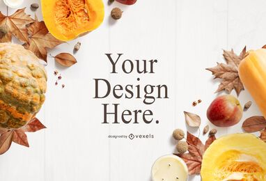 Thanksgiving food mockup composition