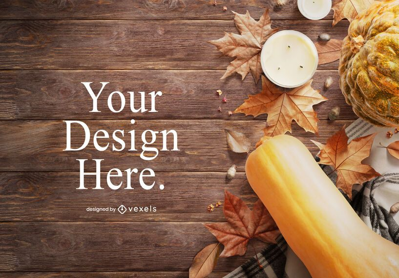 Fall elements mockup design
