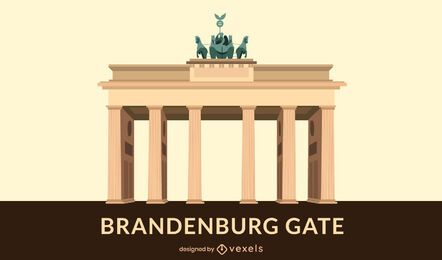 Brandenburg Gate Flat Design