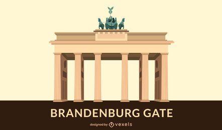 Design plano de portão de Brandemburgo